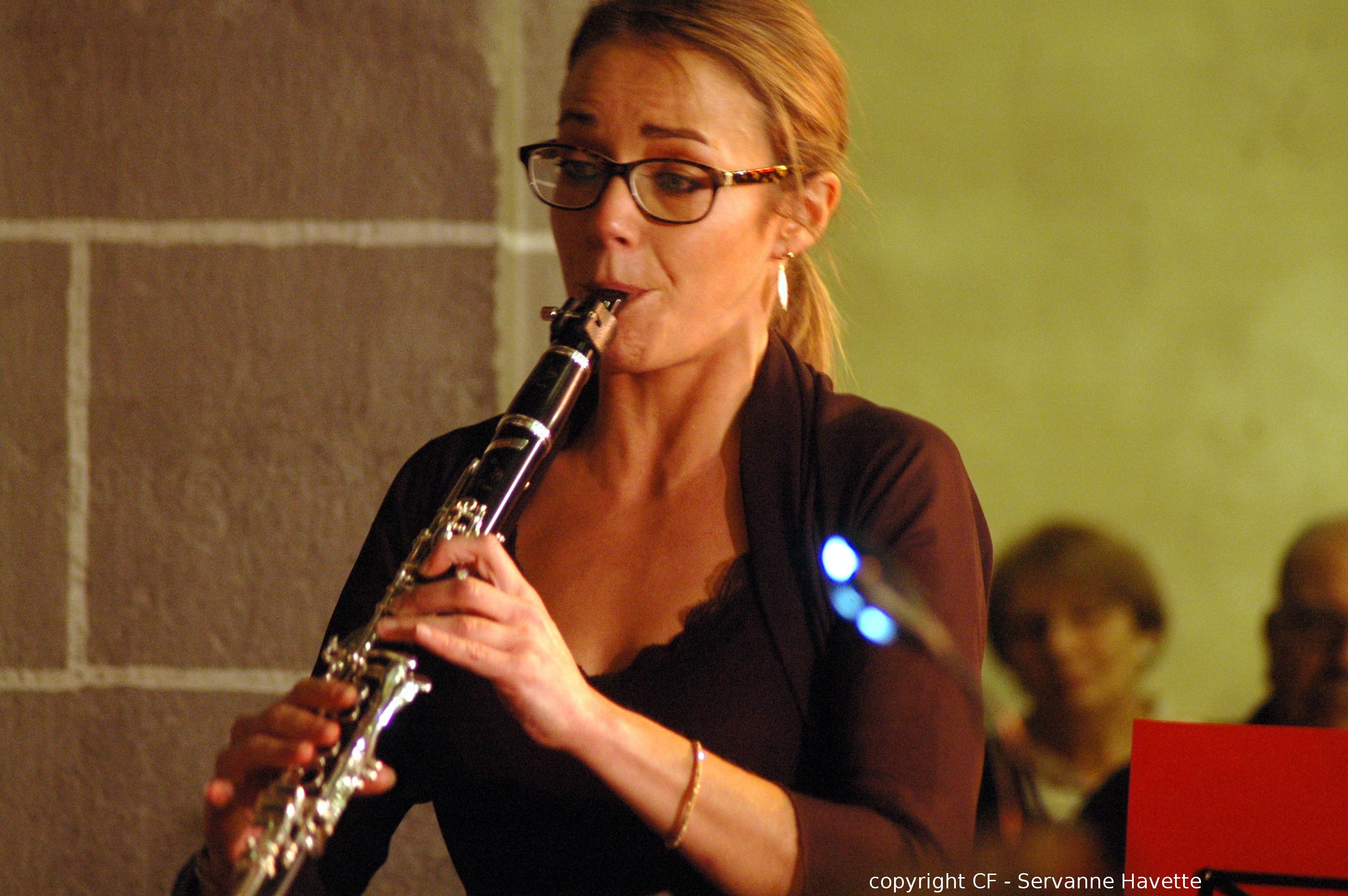 Emilie GIOUX solo dans le concertino de Weber - 29 nov 2015 Eglise de Chamalières