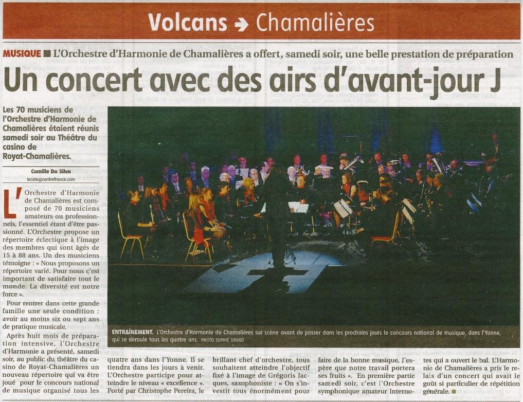 concert au casino de Royat 10 mai 2013
